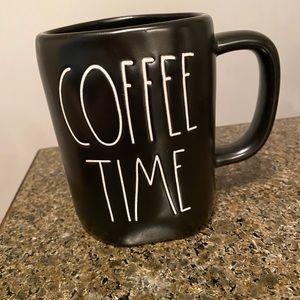 Rae Dunn coffee time black mug